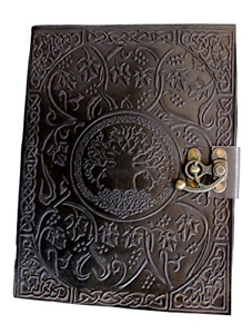 Handmadecraft Large Tree of Life Leather Journal Diary Notebook for Writing