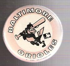 1970's Baltimore Orioles MLB 1.75-Inch Pinback Button PM-10 Style