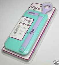 Dual Tone Anti-Slip iFace iRiver Strap Case For Apple iPhone 5