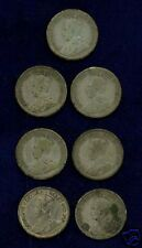 CANADA  GEORGE V  10 CENTS SILVER COINS: 1917, 1930, 1932, & 1936