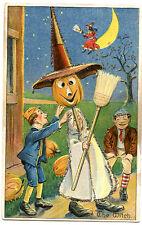 Halloween Boys with Jack O'Lantern Witch Glitter
