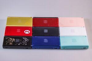 Nintendo DS Lite Black Blue Pink Zelda Mario Pokémon Mint MonsterH Refurbished