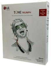 LG Tone Triumph Bluetooth Wireless Stereo Headset Neckband Headphone - Black Red