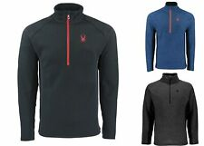 Spyder Mens Outbound Sweater 1/4 Zip Pullover Fleece Lined (Pick Size and Color)