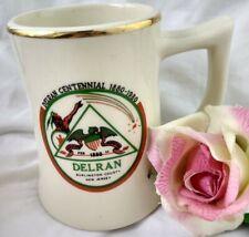 Vintage Mug Delran Centennial Burlington county New Jersey Cup Tankard Usa
