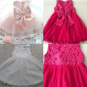 Babybekleidung Mädchen Prinzessin Kleid Festzug Taufkleid Hochzeit Partykleidung