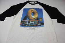 Badger Vtg Randys Donuts Baseball Tee T Shirt Large Slim l
