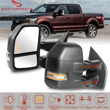 Pair Power Heated Tow Mirrors w/ Temp Sensor 8 Pins Fit 2015-19 Ford F150 Truck
