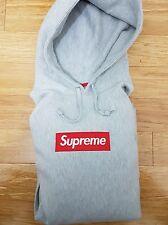 Supreme Box Logo hoodie- Gray/Large