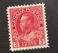 #109  -  Canada -  1923  -  3 Cent  -  MH  - VF -  superfleas