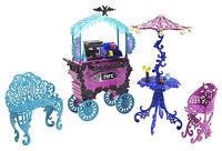 Monster High Straßencafe Café Cart SCARIS Spielset USA OVP Y4308