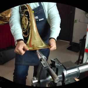 Trumpet Horn Tuba Saxophone Repair Tool Kit Part - Metal Vice Roller Dent Repair
