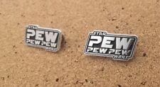 """Star Wars """"Pew Pew"""" Pin Badge FREE UK P&P"""