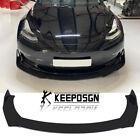 For Tesla Model 3 2017-2020 Front Bumper Lip Splitter Chin Spoiler Glossy Black