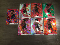 Coby White 2019-20 Panini Mosaic Rookie Lot (7) Red Silver Orange Green Pink RC