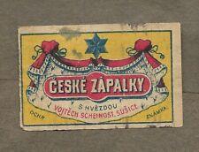ZAPALKY AUSTRIA CZECHOSLOVAKIA MATCHBOX LABEL LOT 2432