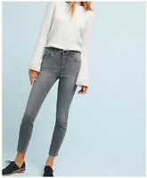New Anthropologie Pilcro Gray Stretch Pants Jeans Skinny Crop sz 26 27 28
