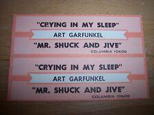 "2 Art Garfunkel Crying In My Sleep Jukebox Title Strip CD 7"" 45RPM Records"