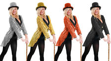 SEQUIN TAILCOAT WITH TOP HAT DANCE TROUPE SCHOOL UNISEX GIRLS COSTUME GLITTER