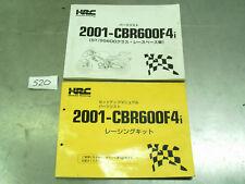 2001 HONDA CBR 600 F4i FS SPORT KIT HRC MANUAL & PARTS HAND BOOK *S20