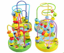 Baby Boy Girls Mini Wooden Around Beads Educational Game Intelligence Funny Toy