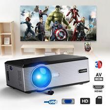 Multimedia 5000LM 1080P Full HD 3D LED Projector Home Movie Cinema HDMI VGA USB