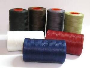 (0,36€/m) 5m Wachsband Polyester 0,8mm Perlenschnur gewachst Schnur Sattlergarn