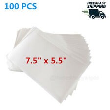 100 Self Adhesive Clear Packing List 7.5x5.5in Shipping Labels Envelopes Pouches