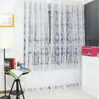 Floral Drape Panel Sheer Scarf Valance Tulle Voile Balcony Door Window Curtain