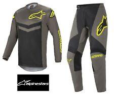 ALPINESTARS ADULT 2021 Fluid Speed GREY/YELLOW FLUO MotoCross Jersey/Pants