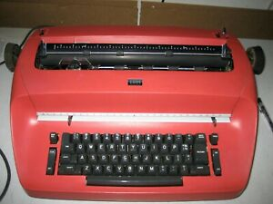 Refurbished IBM Selectric I Typewriter - BRIGHT RED CUSTOM PAINT w/warranty