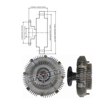 Dayco Viscous Fan Clutch 115014 fits Toyota Land Cruiser Bundera 3.4 D (BJ70,...
