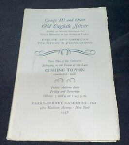 George III & Other Old English Silver 1958 Parke-Bernet Antiques Auction Catalog