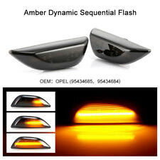 2x Dynamic Side Indicator LED Repeater Light For Opel Vauxhall Mokka X 95434685