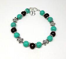 Personalised Initial Letter Summer Turtle Charm Bracelet
