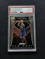 2019-20 Prizm #24 Far Out ZION WILLIAMSON ROOKIE Basketball Card PSA 10
