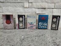 Lot of 5 80's & 90's Hard Rock Cassette Tapes Aerosmith, Whitesnake, Poison