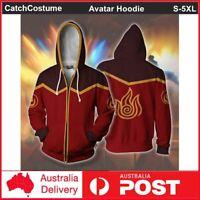 Avatar The Last Airbender 3D Printed Hoodie Sweatshirt Cosplay Jacket Coat Red