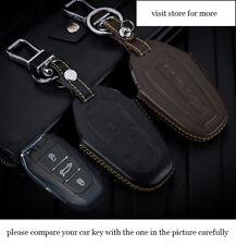 Smart Car Key Case for Peugeot 2008 408 308S 508 301 407 Genuine leather