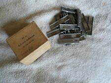 10 original swedish model 1896 1894 1938 mauser 6.5x55 stripper clips 5 rd NOS