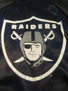 vintage Los Angeles Raiders NFL football satin jacket locker line size 18/20