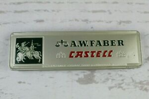 Vintage A.W. Faber Castell Tin Box with Berol Draughting + JS Staedtler Pencils