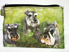 New Schnauzer Dog Zippered Handy Pouch Ruth Maystead Coin Purse 3 Dogs