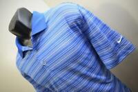 38211 Mens Nike Golf Dri Fit Performance Striped Golf Polo Shirt Size Large