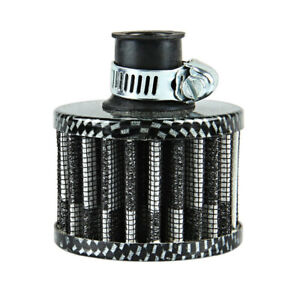 12mm Carbon Round Mini Oil Air Intake Valve Cover Breather Filter Accessories