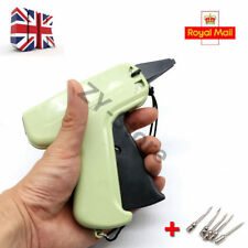 UK Tagging Gun System 5 Steel Needles Tag Label Barbs for Clothes Garment