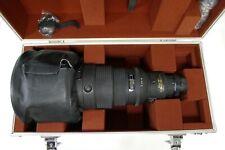 Nikon 600mm f4 D AF-I Super Telephoto AF Lens w/Case f/Film & Digital SLR Mint-