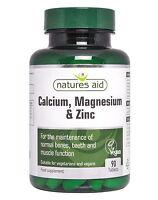Natures Aid Calcium and Magnesium Zinc 90 Tablets