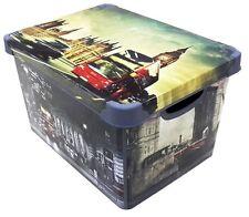Boîte de conservation 20 litre avec couvercle et motif IMAGE plastique Londres