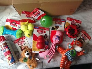 Kong   Dog Toys Large Bundle. S/M Dog NEW 9 Items